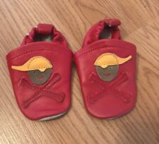 Baby boys Leather Pirate Shoes Infant 2/3 (Europe 18/19)