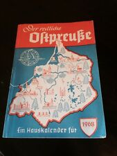 1968 The Honest East Prussian Calendar Book German paperback by Ein Hauskalender