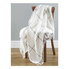 Country Club Isla Cream Grey Acrylic Throw 130cm x 170cm Sofa Chair Cover NEW