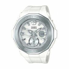 Casio Baby-G BGA-220 White Resin and Stainless Steel Women's Wrist Watch