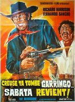 Plakat Kino Western Suppenteller Ta Grab Garringo Sabata Gibt - 120 X 160 CM