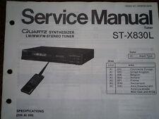 TECHNICS ST-X830L Stereo Tuner Service manual wiring parts diagram