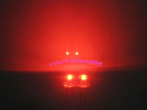 200pcs, 5mm Red Straw Hat LED 5000MCD Wide Angle Water Clear Leds Light Lamp New
