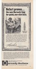 1977 Hornady Bullets GREAT 8mm Bullet  art vintage print Ad   /n1