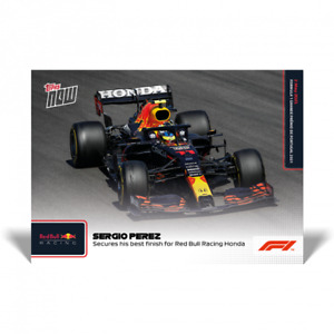 2021 Topps Now #7 F1 Sergio Perez Best Red Bull Finish Portugal GP PRESALE