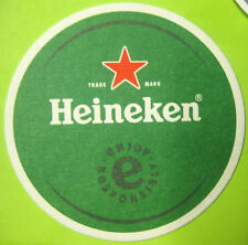 HEINEKEN ENJOY RESPONSIBLY Beer COASTER, MAT with RED STAR, NETHERLANDS, HOLLAND