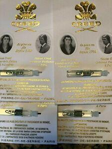 Creed Original Vetiver Men Vial 0.08 oz 2.5 ml Mini EDP Splash - Lot of 4 Vial