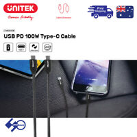 Type-C to M-M USB PD 100W Cable Support Fast Charging Unitek
