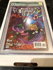 Justice League of America #4 CGC 9.8 Signed Michael Turner L@@K!