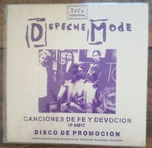 DEPECHE MODE Songs of faith and devotion Ecuador PROMO 12' Unique sleeve
