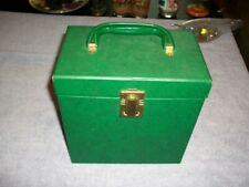 Vintage Amfile 45rpm Record Case Looks in GC Has Latch & Handle