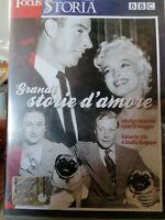 DVD Film Documentario GRANDI STORIE D'AMORE Marilyn Monroe Joe Di Maggio BBC