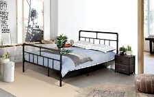 Full Size Bed Frame Metal Bed with Headboard and Footboard,Mattress Foundation