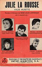 6915/ partition 4 pages chanson Julie La Rousse Pia COLOMBO