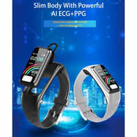 ECG + PPG Bluetooth 5.0 Waterproof Blood Pressure Monitor Smart Watch & Earphone