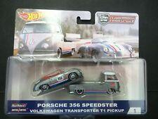 Hot Wheels VW T1 Transporter y Porsche 356 Speedster- TEAM TRANSPORT