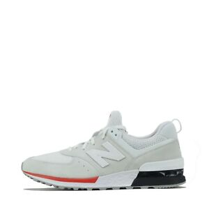 New Balance 574 Men's Trainers Shoes White UK 10