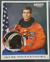 JOHN BLAHA 8x10 AUTOGRAPHED PHOTO - Astronaut - Space Shuttle - MIR - Signed