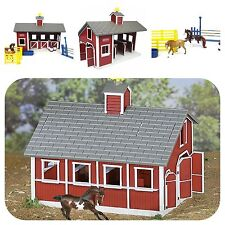 Stablemates Red Stable Set Toy Horses Farm Barn Pretend Play Toys Kids Toddler