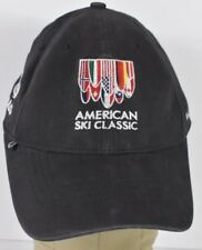 Navy Blue American Ski Classic Logo Souvenir Embroidered Baseball Hat Cap Fitted