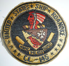 Patch - 1950's - UNITED STATES SHIP ROANOKE - USS - Europe Occupation - 8656