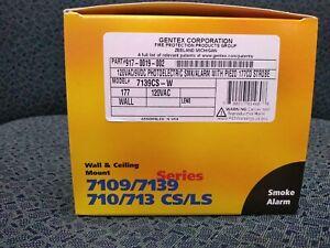 Smoke Alarm W/Strobe, 120 VAC, Photo, Relay, Gentex Model #7139CS-W