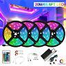 65FT LED Strip Light RGB tape lamp Waterproof Alexa Google Smart WIFI Full Kit