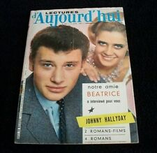 MAGAZINE LECTURE D'AUJOURD'HUI N° 502 AVRIL 1962 JOHNNY HALLYDAY