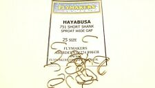 25 HAYABUSA SHORT SHANK SPROAT TROUT FLY FISHING HOOKS CODE FLY 751 FLYMAKERS