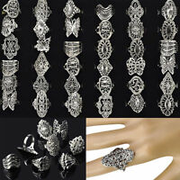 30pcs Wholesale Jewelry Lots Mixed Style Tibet Silver Vintage Rings Free Ship#