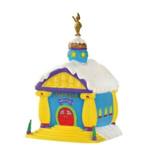 Dept 56 Grinch City Town Hall village Xmas Who-Ville Lighted  NEW Retired