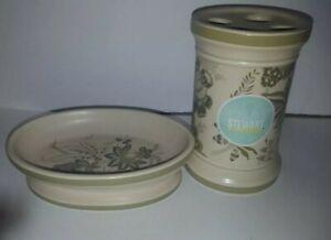 Martha Stewart Everyday Bathroom Soap Dish Toothbrush Holder Lavender Field New