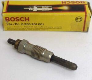 Pair (2) New Bosch Glow Plugs P/N 0250201001 in original boxes