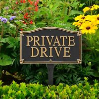 Private Drive Statement Plaque w/lawn stake