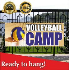 Volleyball Camp Banner Vinyl / Mesh Banner Sign Now Open Camp Camping Sport