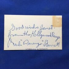 INSCRIBED AUTOGRAPH OF WESTERN ACTOR CHARLES STARRETT