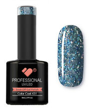 431 VB Line Blue Silver Glitter - gel nail polish - super gel polish