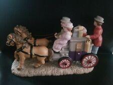Lefton Colonial Christmas Village Three Men On A Coach 10714 In Original Box