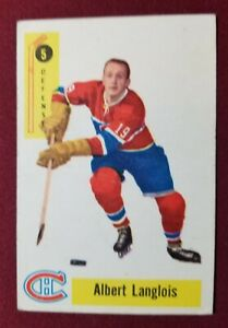 1958-59 Parkhurst #5 ALBERT LANGLOIS RC ROOKIE CARD Canadiens
