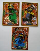 Lego Ninjago Serie 4 - 3 Gold Karten Trading Card LE 2 Cole LE 3 Lloyd LE 6 Jay