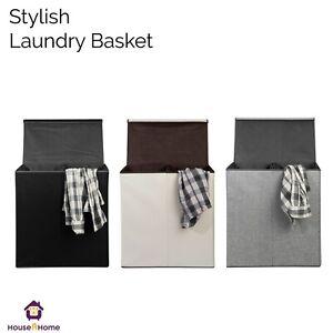LAUNDRY BASKETS WASHING CLOTHES STORAGE FOLDING BASKET BIN HAMPER WTH LID