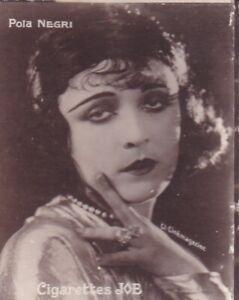 "POLA  NEGRI -1926 SOCIETE JOB  silent movie "" CINEMA STARS "" cigarette card"