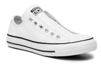 Converse Women's Chuck Taylor All Star Slip On Sneakers, White Leather