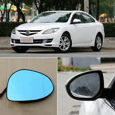 Rearview Mirror Blue Glasses LED Turn Signal with Power Heating For Mazda 6