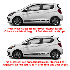 2X Multiple Color Graphics Car Racing Vinyl Decal Sticker for Chevrolet Spark