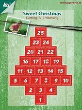 Joy artesanía Die Cut & Embossing esténcil Dulce Navidad Calendario De Adviento 6002/2037