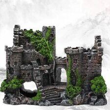 Aquarium Decoration Fish Tank Resin Ancient Castle Decor Aquatic Rock Building