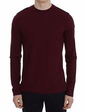 NWT $320 TOMMY HILFIGER Collection Polo Sweater Bordeaux Wool Crewneck s. M