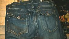 Mens MEK Buckle Jeans Straight Size 38X34 Actual 40X34