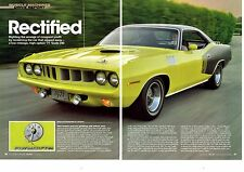 1971 PLYMOUTH 'CUDA 340  ~  NICE 6-PAGE ARTICLE / AD